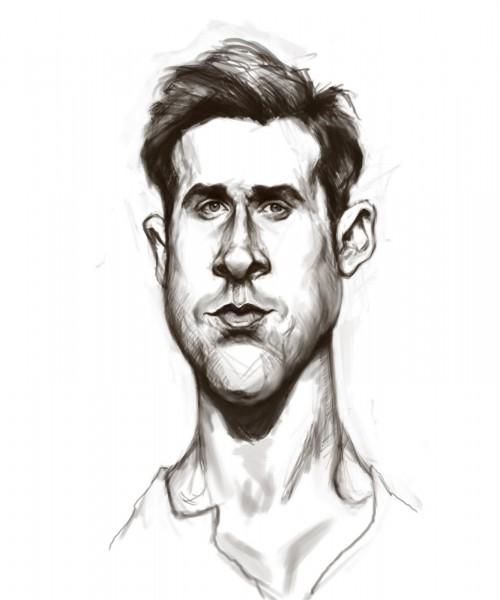 Ryan Gosling Caricature