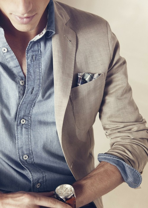chambray and linen