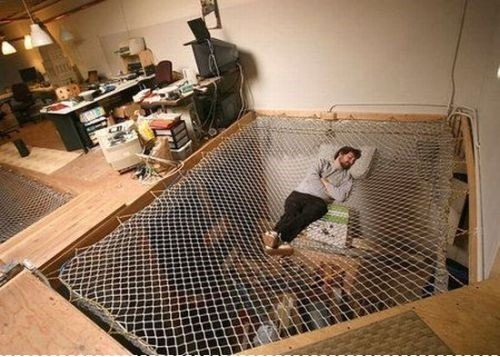 net bed masculine style