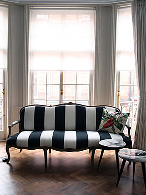 Preppy Nautical Striped Sofa