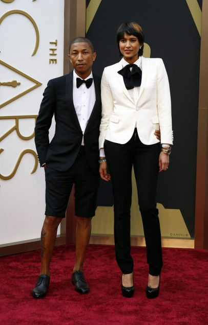 Pharrell William 2014 Oscars Red Carpet